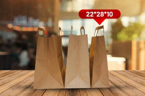 Kraft bags: 22*28*10